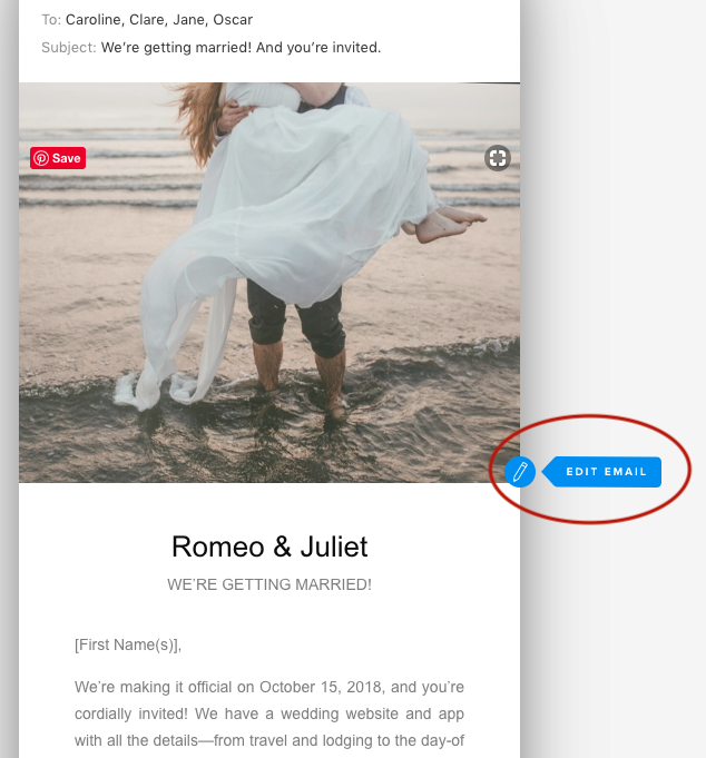 How To Edit And Send Save The Dates And Invitation E-Cards