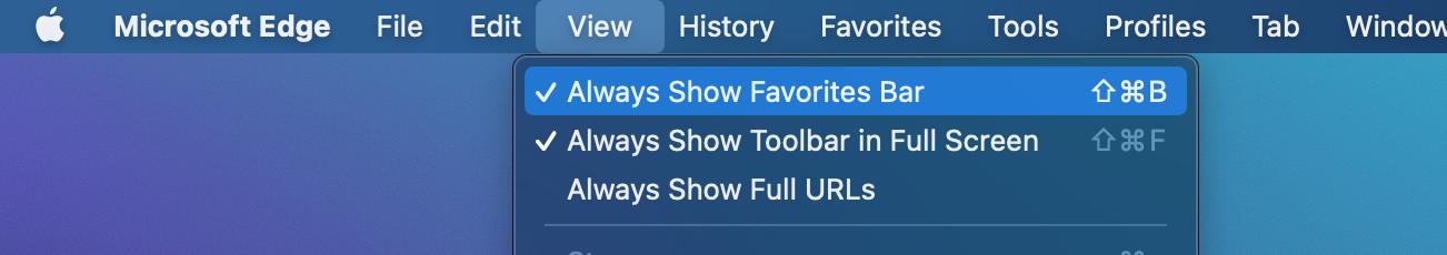 Microsoft Edge - How to Always Show Favorites Bar
